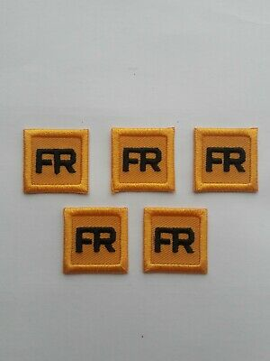 Replacement FR Patches Iron On Yellow Fire Retardant Pants Shirt Jacket Tag 5