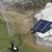 150l/h Solar Power Fountain Pool Water Pump Garden Plants Watering Kit Us Y3p2