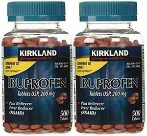 Kirkland Signature Ibuprofen 200mg Tablets 500 Count 2 Pack For Sale Online Ebay