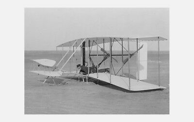 1903 WRIGHT BROTHERS AT KITTY HAWK AVIATION BIPLANE 8X10 PHOTO ORVILLE AIRPLANE