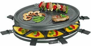 Clatronic-Raclette-Grill-Black-Round-Raclette-Barbecue-Grill-Table-Party-Grill