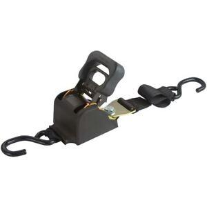 Retractable Ratchet Straps >> Details About 2 X 6 Retractable Ratchet Strap With S Hooks 1 000lb Load Capacity