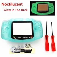 Gba Nintendo Game Boy Advance Replacement Housing Shell Glow In The Dark Mario