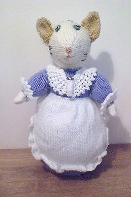"Generous Mrs Tabitha Twitchit From Beatrix Potter~new Hand Knitted Doll/toy 33 Cm/13""tall Quality And Quantity Assured Art Dolls-ooak"