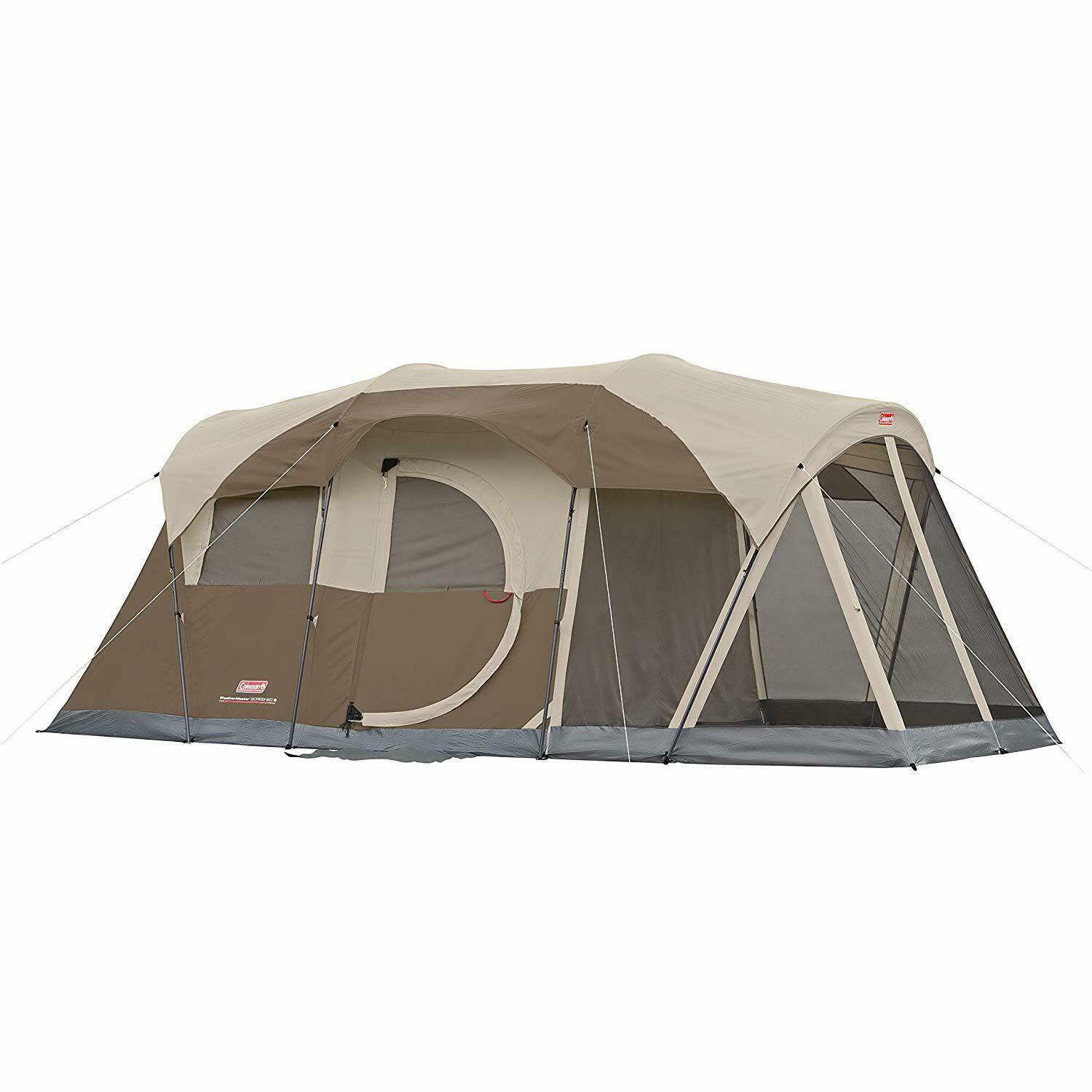 Coleman WeatherMaster 6-Person Tent with Screen Room fits 2 queen-Größe airbeds