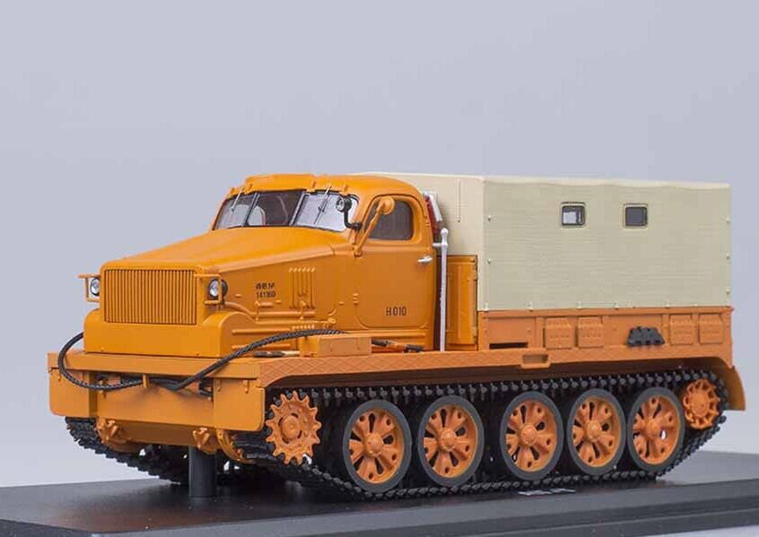 AT-T All-terrain Vehicle orange with tent USSR 1 43 SSM 3006