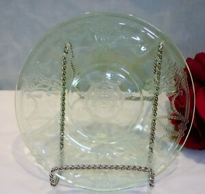 Green Depression Glass Cameo Ballerina by Anchor Hocking Saucer