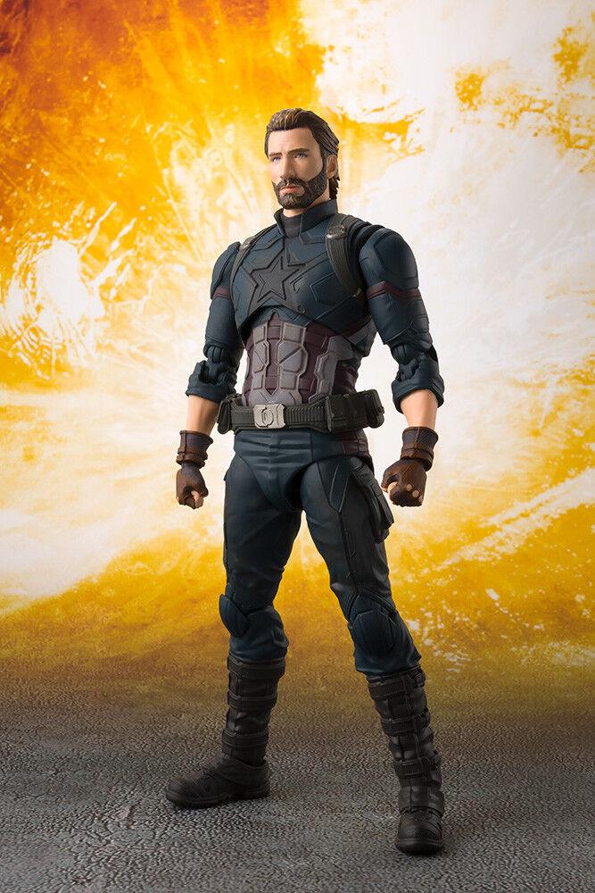 Avengers Infinity War  Captain America & Tamashii Effect Explosion S.H. Figuarts  Sconto del 40%