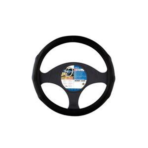 Sumex-2505089-Steering-Wheel-Cover-Leather-Black-Grip-Car-Glove-Look-3738cm
