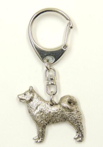 Finnish Spitz  Silver Keyring