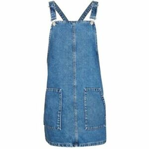 caa2fc8f3a0 Details about Denim Overall Jumper Dress Overall Jean TOPSHOP Moto size US4  UK 8 EURO 36 $88