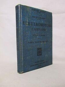 Magrini-Elettromotori-campioni-Manuali-Hoepli-1907-Prima-ediz-Elettrotecnica