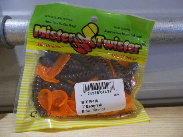 "Mister Twister 3/"" 100 Pack Black Twister Tails"