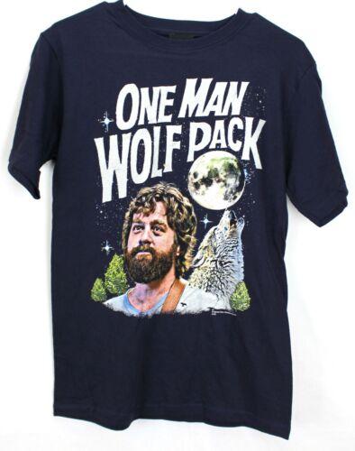 da40436ca15 The Hangover One Man Wolf Pack Men s Short Sleeve Navy Blue T-Shirt Tee