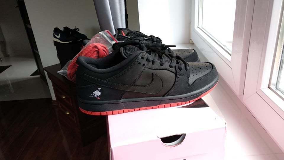NIKE SB DUNK LOW TRD QS BLACK PIGEON 883232-008 Jeff Staple size 8 us 7 uk Cheap women's shoes women's shoes