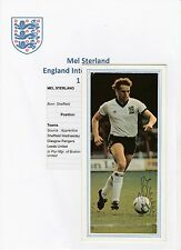 MEL STERLAND ENGLAND INT 1988 ORIGINAL HAND SIGNED MAGAZINE PICTURE CUTTING