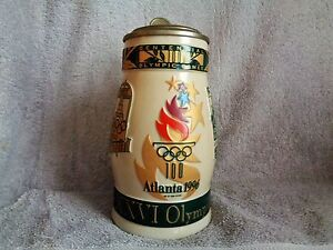 Budweiser Official Centennial Olympic Games Lidded Stein 1996 Atlanta Now $25.00