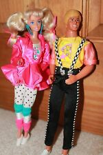 Vintage Barbie & kEN Doll Cool Times Barbie Scooter Ice Cream No.3022 Dated 1988