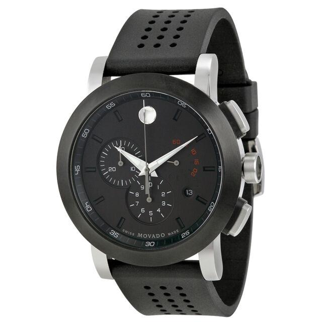 Movado Museum Black PVD Steel Chronograph Mens Watch 0606545