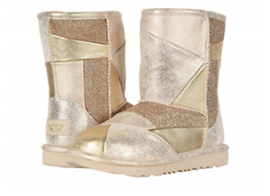 Details about UGG Australia Classic Short II Patchwork Gold Boot Kid's Girl's sizes 13 6 NEW!