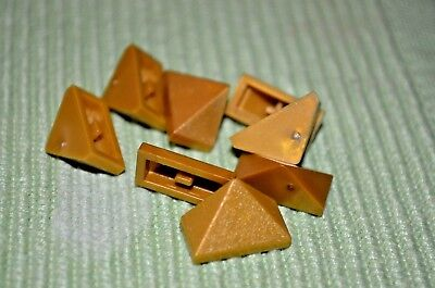 6 ~ Gold 1x2 Vented Slope Grill Brick ~ Bricks ~ New Lego Bricks ~8