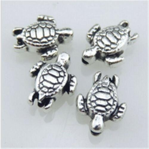 Vintage Alliage d/'Argent Animal 9 mm Sea Turtle Spacer Beads Jewelry Making À faire soi-même