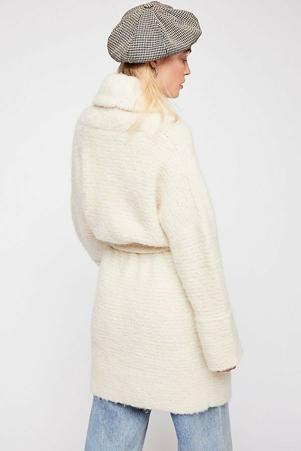 NWT Free People Ivory Bo Peep Sweater Open front front front Alpaca Blend Coat XS  498 b7650b