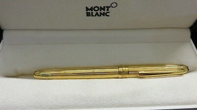 Montblanc Solitaire Vermeil Pinstripe Gold Ballpoint Pen In Box 164vp W Papers Ebay