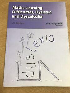 100% Vrai Maths De Difficultés D'apprentissage, Dyslexie & Dyscalculie * Par Steve Chinn-afficher Le Titre D'origine Pour Classer En Premier Parmi Les Produits Similaires