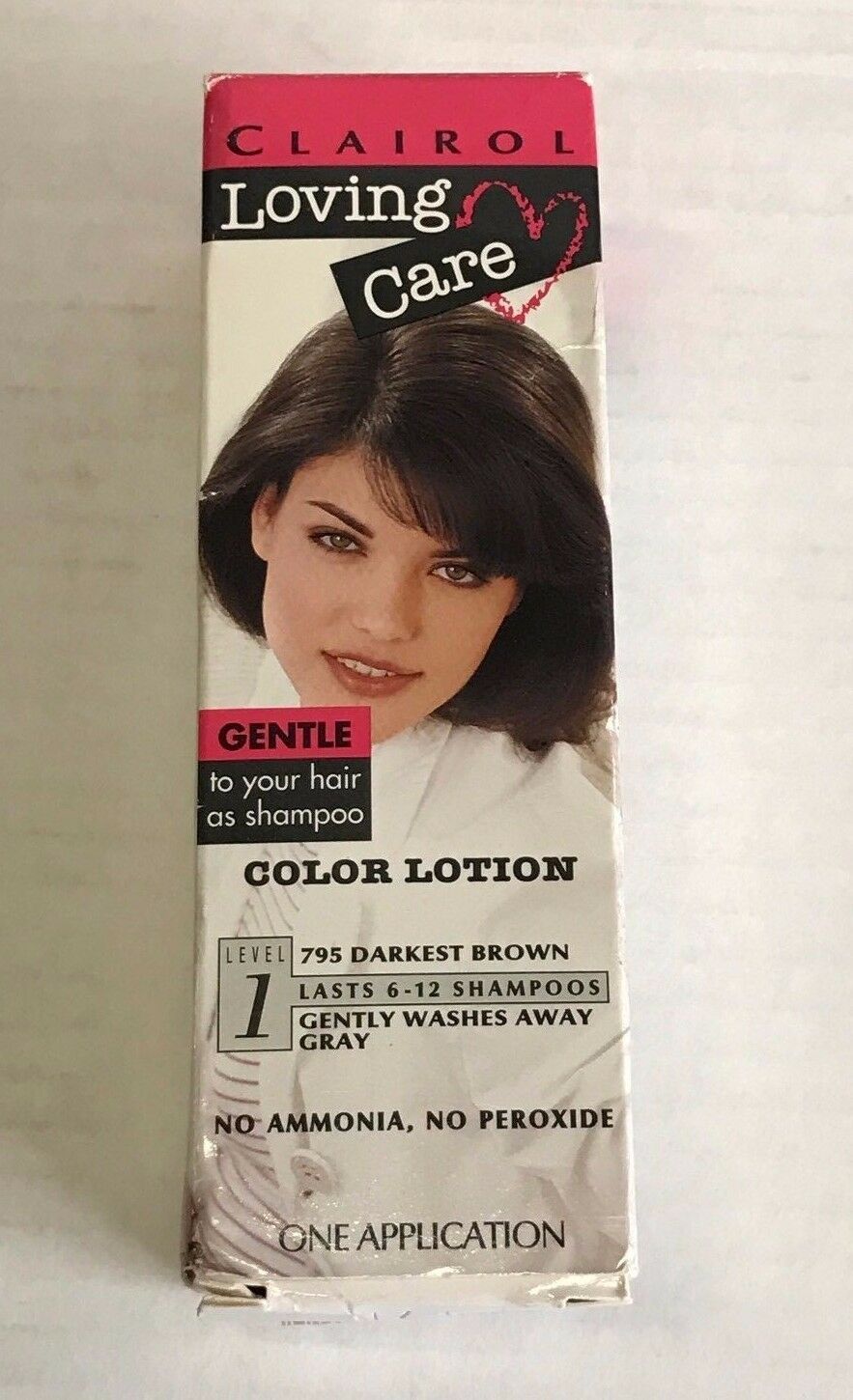 Clairol Loving Care Color Lotion 795 Darkest Brown