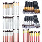 10Pcs Professional Cosmetic Makeup Brush Set Eyeshadow Foundation Blush Brushes