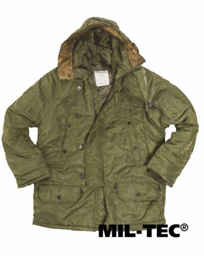 Mil-tec us fliegerparka n3b Basic verde oliva hidrófuga chaqueta