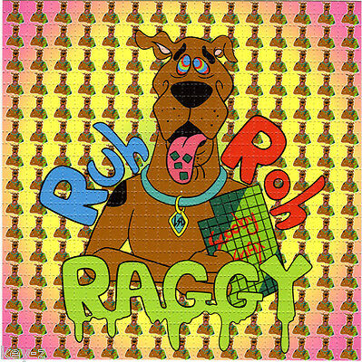 SCOOBY SNACKS Ruh Roh Raggy -  BLOTTER ART perforated psychedelic LSD Acid Art