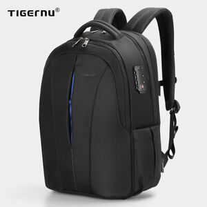 "Tigernu 15.6"" Laptop Backpack USB Charging Waterproof TSA Anti-Theft Lock Bag US"