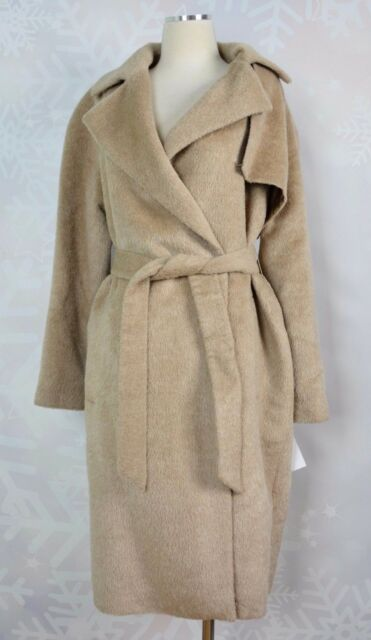 "Trina Turk  Wool blend wrap trench Coat  ""Fawn"" colored  Size 12    NWT"