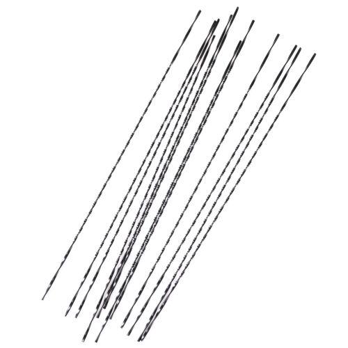 12pcs 130mm Scroll Jig Saw Blades Spiral Teeth Metal Wood Cutting Craft To TPla