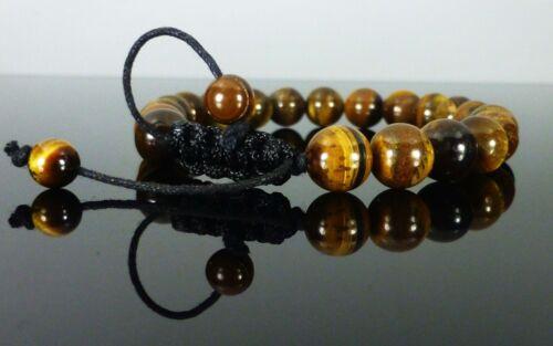 10mm 8mm Shamballa Pulseras De Piedras Preciosas Cristal con Tigres Ojo 6mm