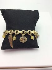 LUCKY BRAND Two-Tone Owl and Wing Charm Bracelet $39 #L38