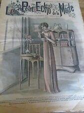 """""""""""ANCIEN LE PETIT ECHO DE LA MODE AVEC PATRON """"MATINEE DAME """" FEVRIER 1911 N°9"""