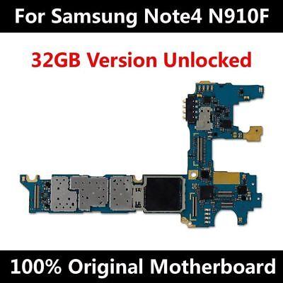 Original Motherboard Samsung Galaxy Note 4 N910F placa base Mainboard Board | eBay