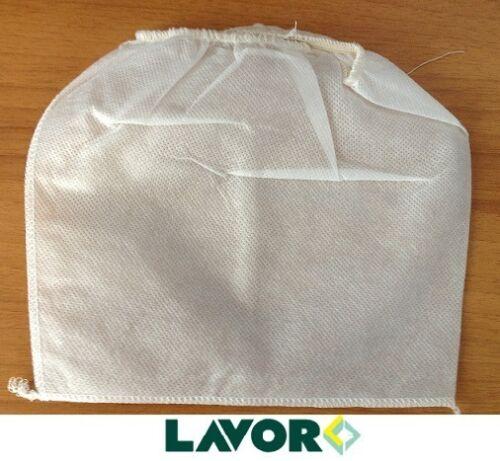 """Filtro di STOFFA sacchetto per motore bidone aspiratutto /""""ashley plus/"""" LAVOR"""