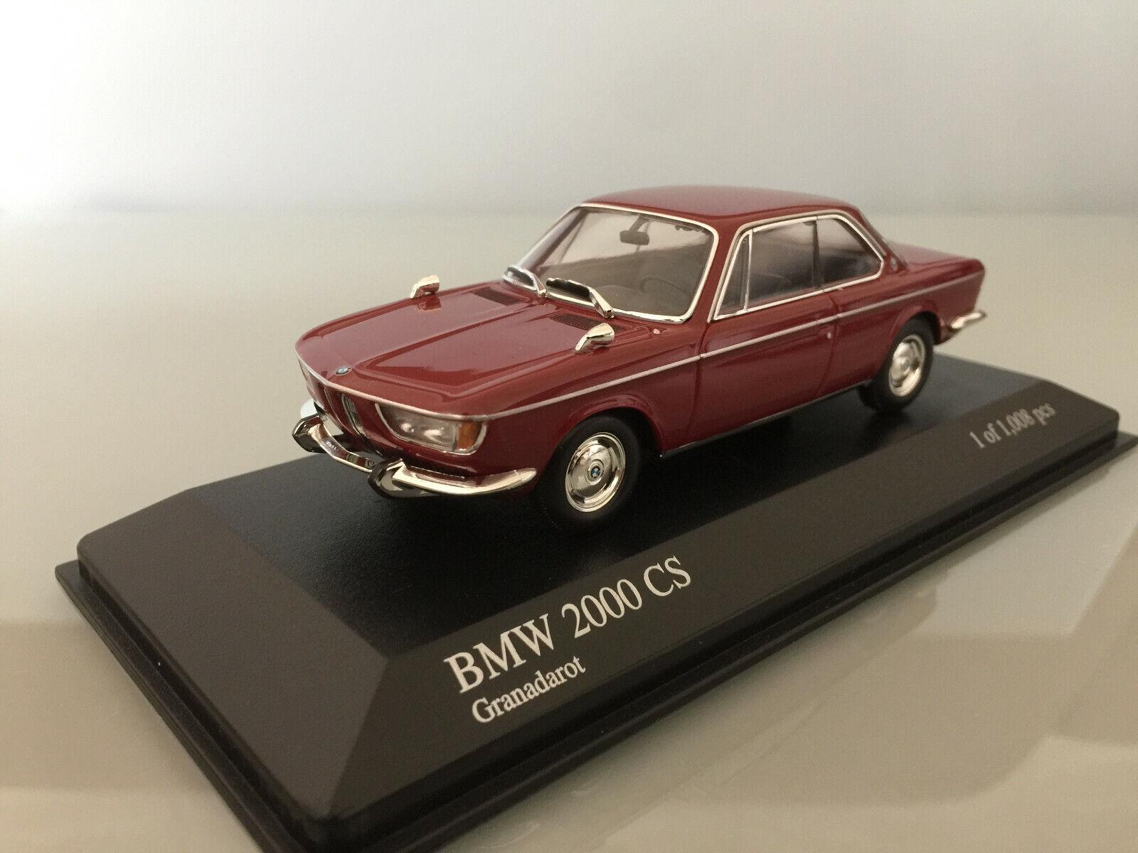 1 43 Minichamps BMW 2000 CS, 1967, granadarosso