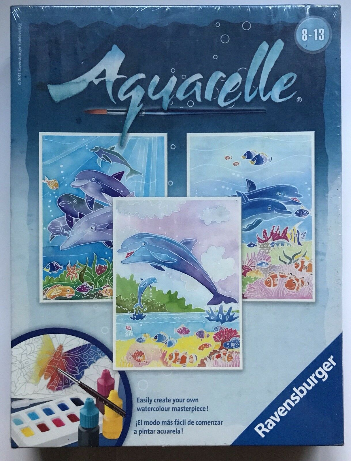 Ravensburger, Aquarelle, Watercolour Painting Set, Dolphins, NEW & SEALED