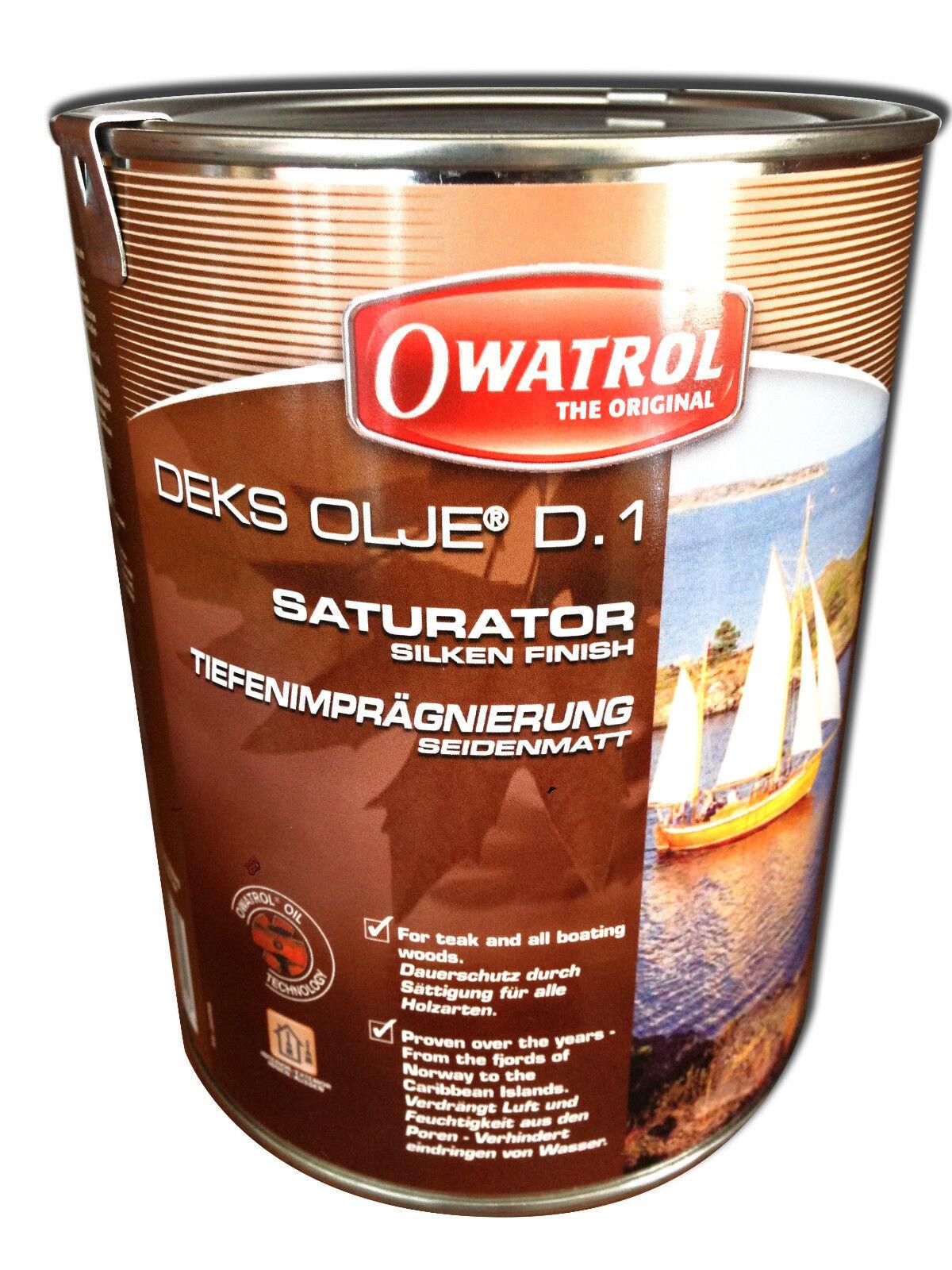 OWATROL Marine D1 DEKS OLJE Stiefelöl Holzöl Imprägnierung TEAK und andere Hölzer