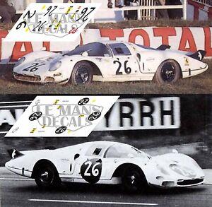 Calcas Ferrari 365 P2 Drogo Le Mans 1967 Race Test 26 1:32 1:43 1:24 1:18 decals