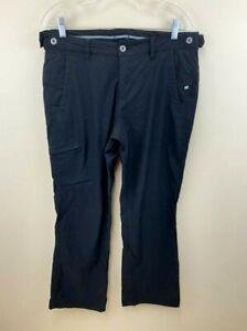 Eddie Bauer Sport Para Mujer 12 Negro Cargo Pantalones De Senderismo Ebtek Nylon Elastico Ebay