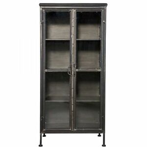 neu bepurehome puristic metallschrank schrank vitrine vintage industrie design ebay. Black Bedroom Furniture Sets. Home Design Ideas