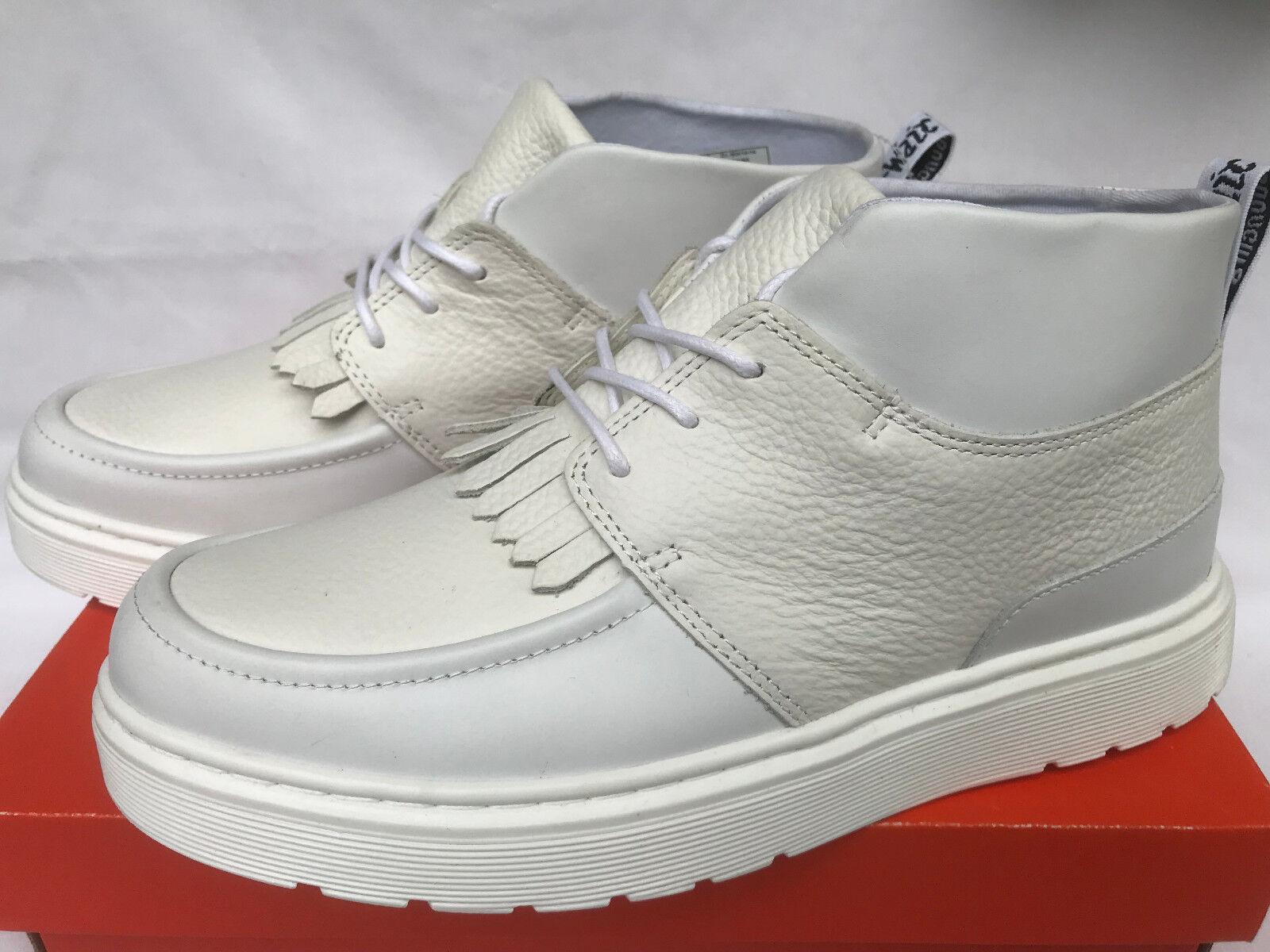 Dr. Martens Jemima flecos Cuero Chukka mediados De Cuero flecos blancoo Moc Toe botas Zapatos para mujer 8 bbfe36