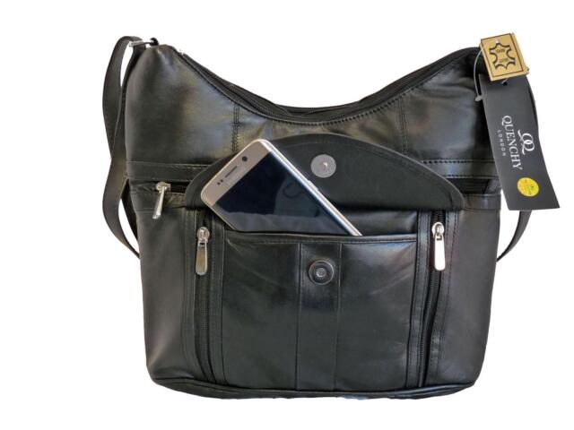 Las Soft Leather Black Handbag Single Strap Shoulder Bag Handbags Bags Ql176k