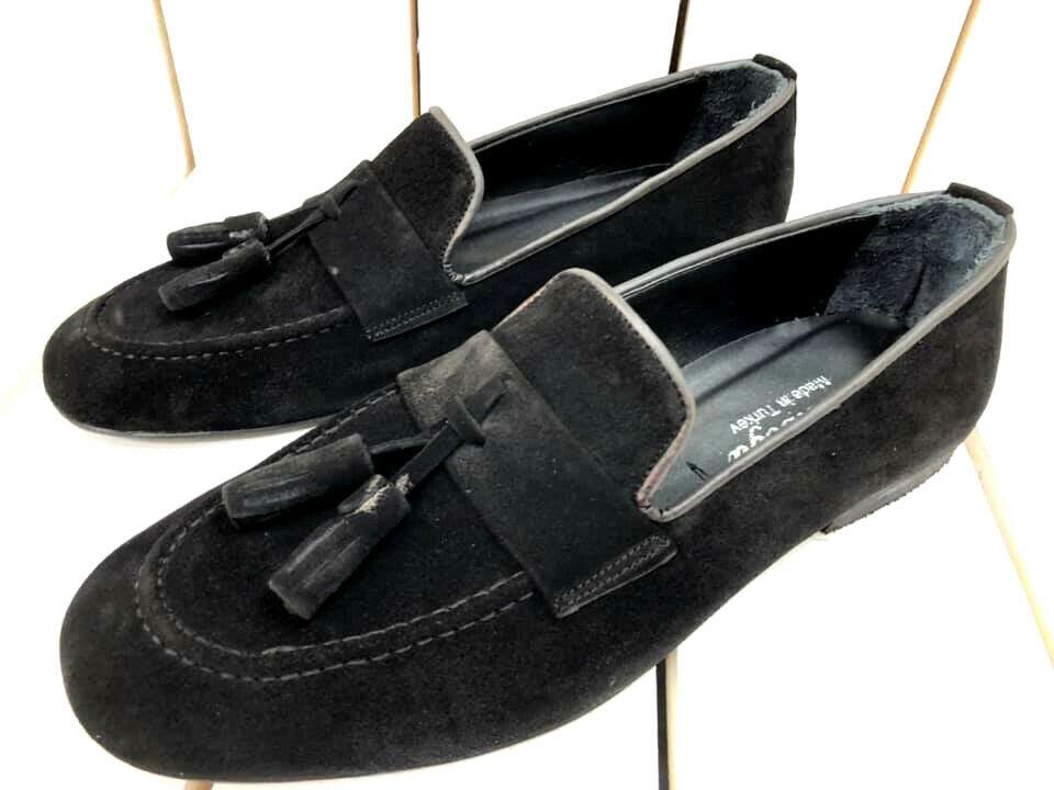 Designer Slipper loafers negro mocasín mocasines de gamuza zapatos caballero 39